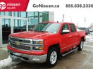 This Red 4 door LTZ, CREW CAB, 4X4, LEATHER, NAVIGATION Pickup features a Black interior a 6 Spd Automatic transmission, a  5.3L  V 8 engine, and has 110707 kilometres on it.