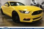 This Yellow 2 door GT Coupe features a Black interior  a  5.0L  V 8 engine, and has 58811 kilometres on it.