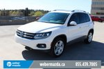 This White 4 door 2.0 TSI Trendline AWD / SUNROOF / LEATHER SUV features a Black interior a 6 Spd Automatic transmission, a  2.0L  I 4 engine, and has 63295 kilometres on it.