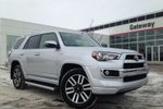 This Silver 4 door Demo Limited 7 Pass. Toyota Starter, Navi, Backup Cam, Push Button Start, Sunroof SUV features a Black interior a 5 Spd Automatic transmission, a  4.0L  V 6 engine, and has 0 kilometres on it.