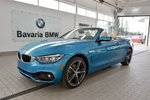 This Blue 2 door xDrive Cabriolet Convertible features a White interior a 8 Spd Automatic transmission, a  2.0L  I 4 engine, and has 90 kilometres on it.