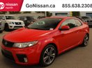 This Red 2 door MANUAL, LEATHER, SUNROOF Coupe features a Black interior a 6 Spd Manual transmission, a  2.4L  I 4 engine, and has 78778 kilometres on it.