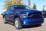 This Blue 4 door Sport Pickup features a Black interior a 8 Spd Automatic transmission, a  5.7L  V 8 engine, and has 10 kilometres on it.
