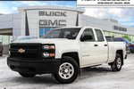 This White 4 door 1WT 4x4 Double Cab 6.6 ft. box 143.5 in. WB Pickup features a Black interior a 6 Spd Automatic transmission, a  5.3L  V 8 engine, and has 38993 kilometres on it.