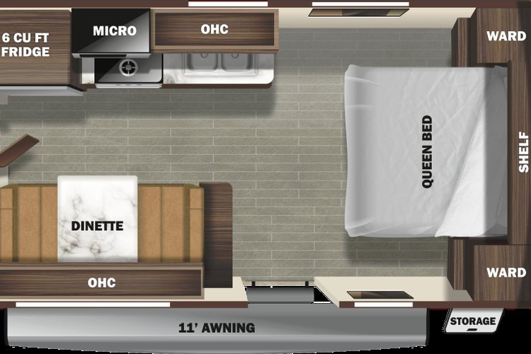 2020 Starcraft Autumn Ridge 182RB Only $68 biweekly OAC. New Travel Trailer RV, sleeps 4, couples unit! for sale in Edmonton, Alberta