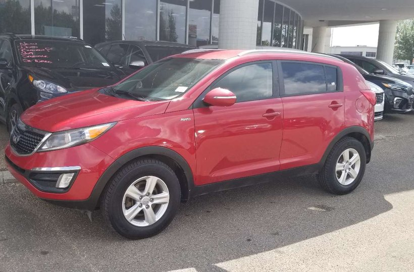 Red 2014 Kia Sportage LX for sale in Edmonton, Alberta