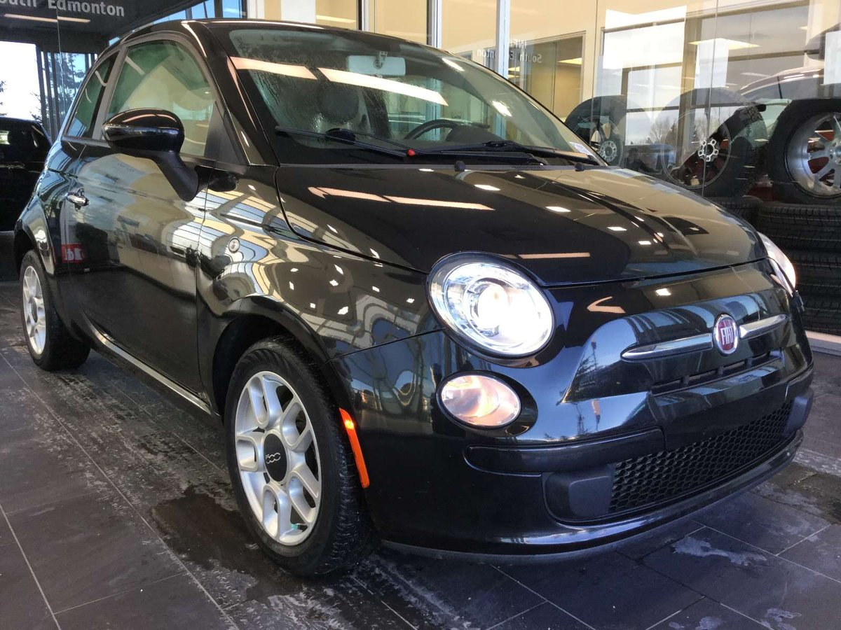 f18d8f99c32144 Our 2012 Fiat 500 pop in a black pearl comes well equipped with power  windows locks mirrors