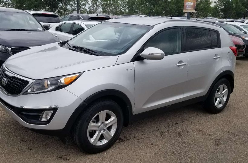 Silver 2016 Kia Sportage LX for sale in Edmonton, Alberta
