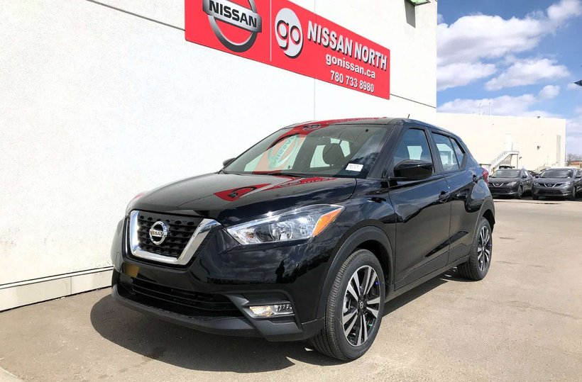 Black 2019 Nissan Kicks SV for sale in Edmonton, Alberta