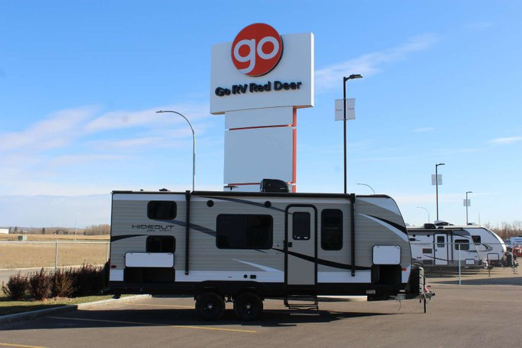 2019 Keystone Hideout 21LHS Only $100 Biweekly OAC. New Travel Trailer RV, sleeps 8, bunk beds! for sale in Red Deer, Alberta
