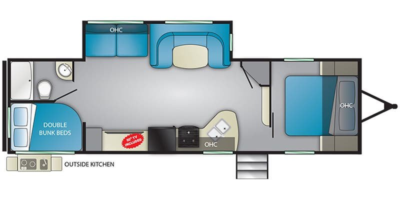 2019 Heartland Pioneer BH280 Only $135 biweekly OAC. New Travel Trailer RV, sleeps 10 with bunk beds! for sale in Edmonton, Alberta