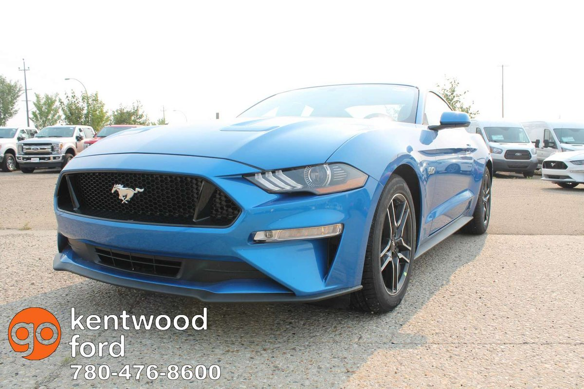 Turn heads in our 2019 ford mustang gt fastback thats got plenty of swagger in velocity blue powered by a coyote 5 0 litre v8 offering 460hp while paired