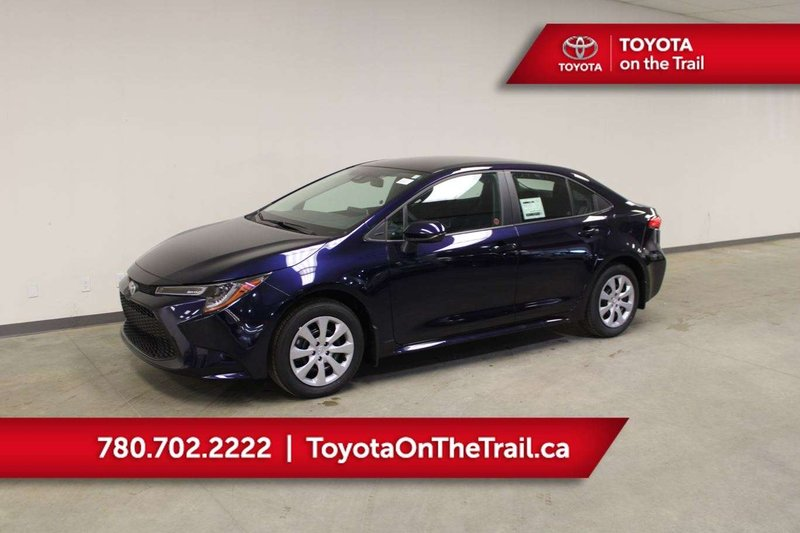 Blue 2020 Toyota Corolla LE for sale in Edmonton, Alberta